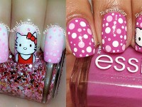 Easy-Hello-Kitty-Nail-Art-Designs-Ideas-Stickers-2013-2014-3D-Nails