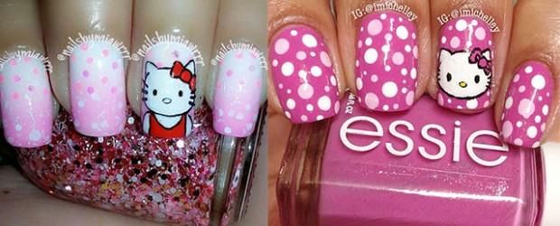 Easy-Hello-Kitty-Nail-Art-Designs-Ideas-Stickers-2013-2014-3D-Nails