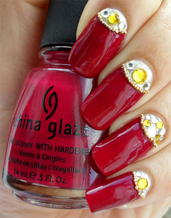 Easy-Red-Nail-Art-Designs-Ideas-For-Girls-2013-2014-2