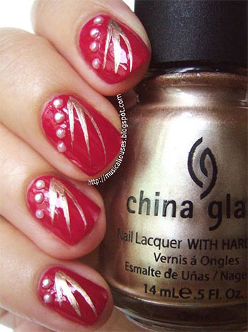 Easy-Red-Nail-Art-Designs-Ideas-For-Girls-2013-2014-6