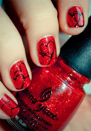 Easy-Red-Nail-Art-Designs-Ideas-For-Girls-2013-2014-7