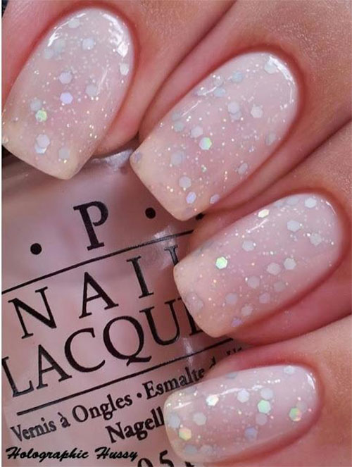 pale pink nail art  Nail Art Ideas