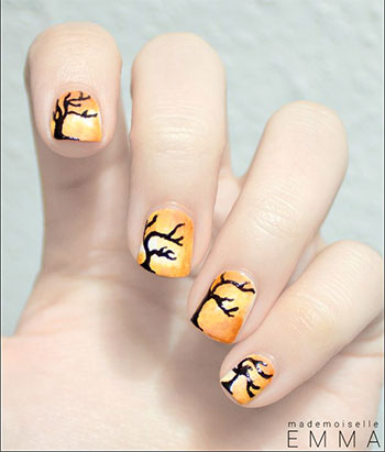 Latest-Autumn-Nail-Art-Designs-Trends-Fashion-For-Girl-2013-2014-4