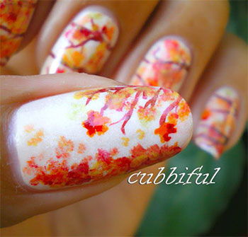 Latest-Autumn-Nail-Art-Designs-Trends-Fashion-For-Girl-2013-2014-6
