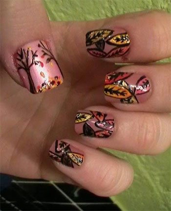 Latest-Autumn-Nail-Art-Designs-Trends-Fashion-For-Girl-2013-2014-7