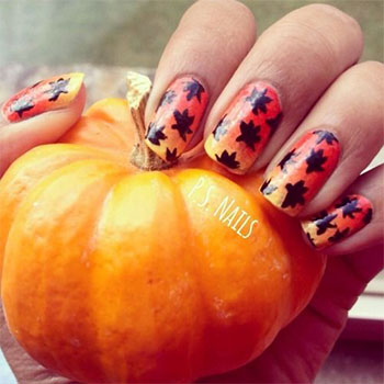 Latest-Autumn-Nail-Art-Designs-Trends-Fashion-For-Girl-2013-2014-8