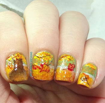 Latest-Autumn-Nail-Art-Designs-Trends-Fashion-For-Girl-2013-2014-9
