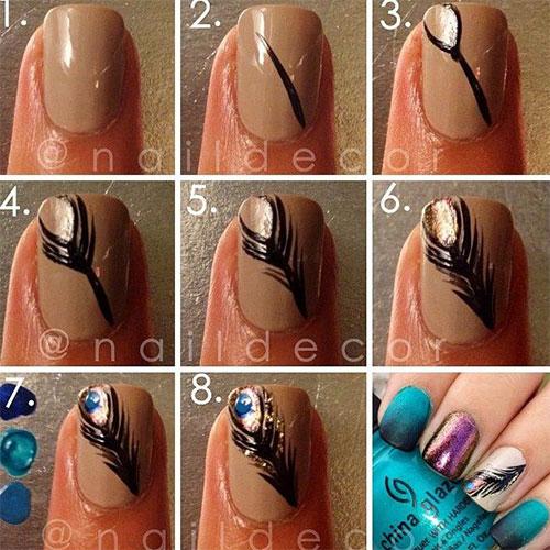 Latest-Autumn-Nail-Art-Tutorials-For-Girls-2013-2014-2