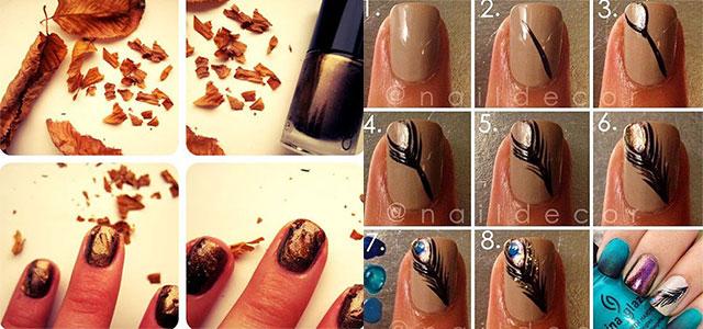 Latest-Autumn-Nail-Art-Tutorials-For-Girls-2013-2014
