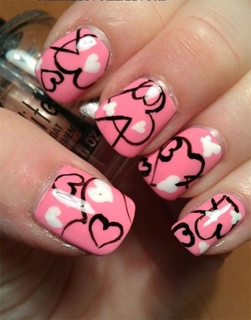 Pink-Nail-Art-Designs-Ideas-2013-2014-10
