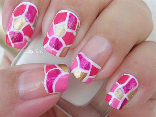 Pink-Nail-Art-Designs-Ideas-2013-2014-2