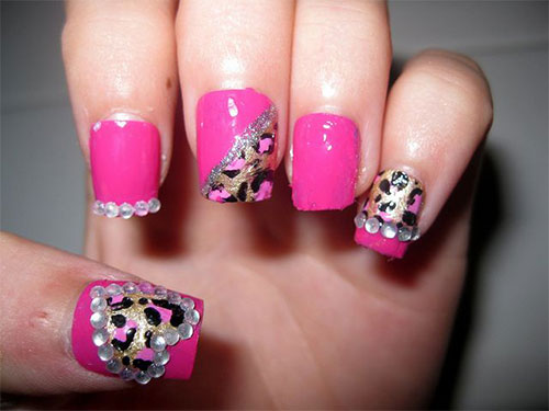 Pink-Nail-Art-Designs-Ideas-2013-2014-6