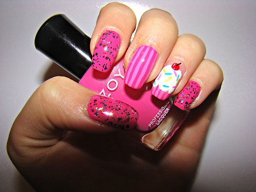 Pink-Nail-Art-Designs-Ideas-2013-2014-7