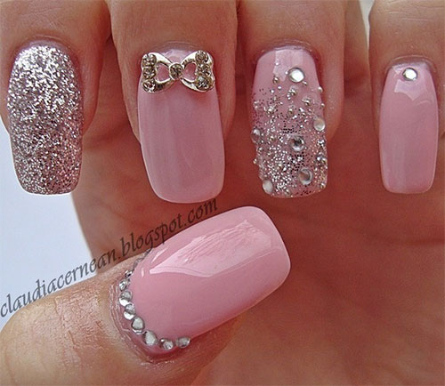 Pink Nail Art Designs & Ideas 2013/ 2014