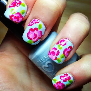 Simple-Easy-Flower-Nail-Art-Designs-Ideas-2013-2014-5