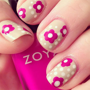 Simple easy flower nail art designs ideas 2013 2014 simple easy flower nail art designs ideas 2013 prinsesfo Images