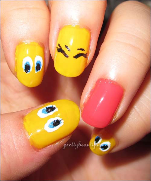 Tweety-Bird-Nail-Art-Designs-Ideas-Stickers-2013-2014-3
