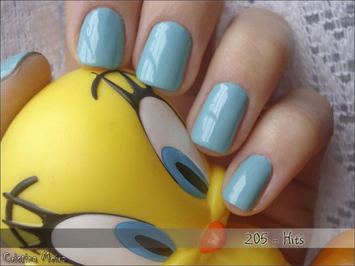 Tweety-Bird-Nail-Art-Designs-Ideas-Stickers-2013-2014-6