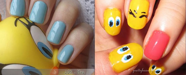 Tweety-Bird-Nail-Art-Designs-Ideas-Stickers-2013-2014