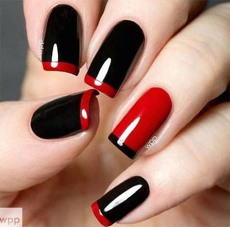 Very-Easy-Black-Nail-Art-Designs-Ideas-2013-2014-11