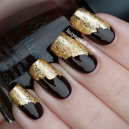 Very-Easy-Black-Nail-Art-Designs-Ideas-2013-2014-13