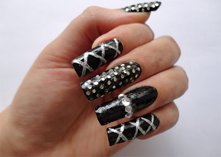 Very-Easy-Black-Nail-Art-Designs-Ideas-2013-2014-14
