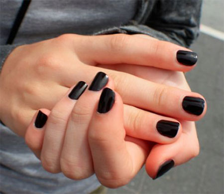 Very-Easy-Black-Nail-Art-Designs-Ideas-2013-2014-2
