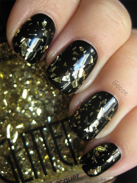Very-Easy-Black-Nail-Art-Designs-Ideas-2013-2014-4