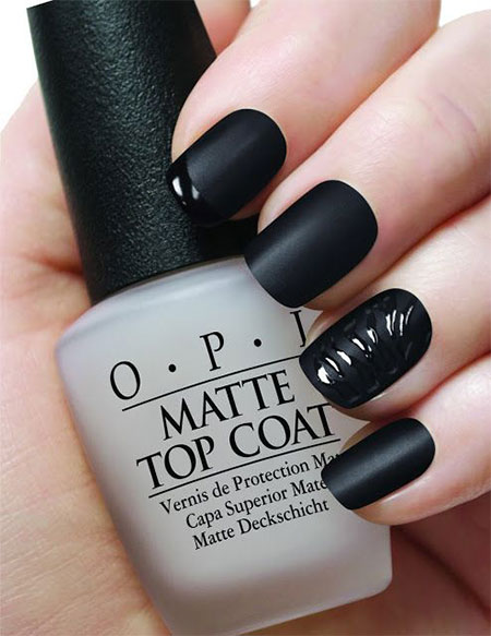 Very-Easy-Black-Nail-Art-Designs-Ideas-2013-2014-5