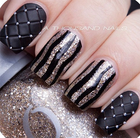 Very-Easy-Black-Nail-Art-Designs-Ideas-2013-2014-6