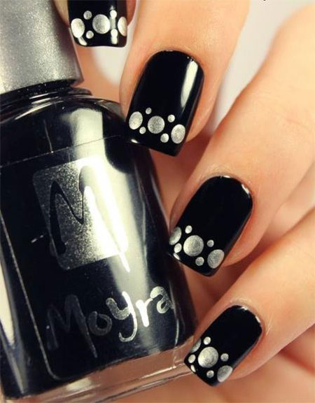 Very-Easy-Black-Nail-Art-Designs-Ideas-2013-2014-8