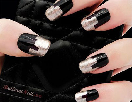 Very-Easy-Black-Nail-Art-Designs-Ideas-2013-2014-9