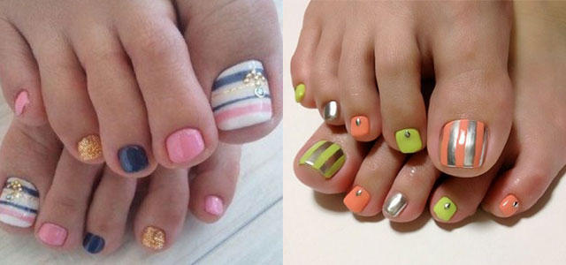 best new year toe nail art designs ideas 2013 2014 fabulous nail art designs