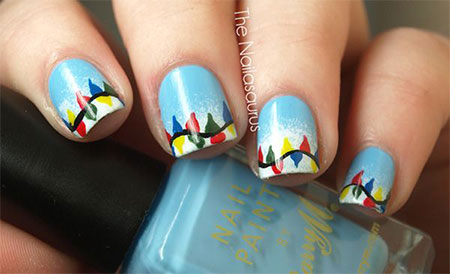 Christmas Light Nail Art Designs Ideas 2013 2014 X Mas Nails
