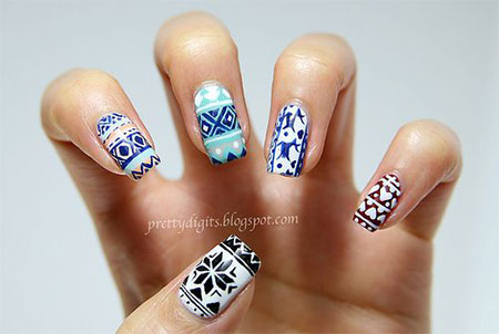 Christmas Sweater Nail Art Designs Amp Ideas 2013 2014 X Mas Nails Fabulous Nail Art Designs