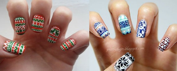 Elegant Christmas Sweater Nail Art Designs U0026 Ideas 2013/ 2014 | X Mas Nails
