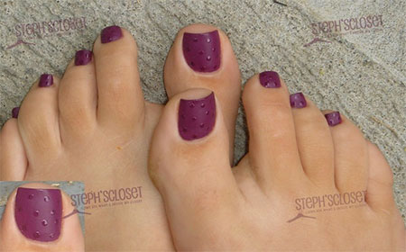 Cool-Pretty-Toe-Nail-Art-Designs-Ideas-For- - Cool & Pretty Toe Nail Art Designs & Ideas For Beginners