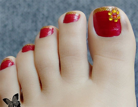 Cool-Pretty-Toe-Nail-Art-Designs-Ideas-For-Beginners-Learners-2013-2014-10
