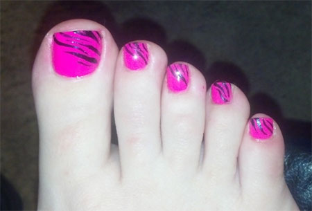 Cool pretty toe nail art designs ideas for beginners cool pretty toe nail art designs ideas for prinsesfo Images