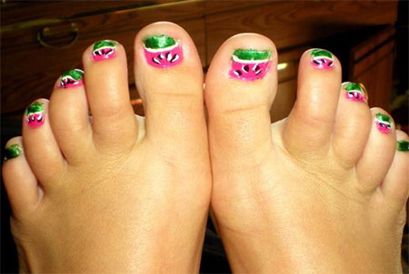 cool pretty toe nail art designs ideas for