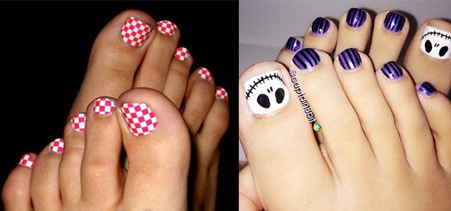 cool pretty toe nail art designs ideas for beginners learners 2013 2014 fabulous nail art designs