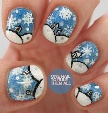 cool winter nail art designs ideas for girls 2013 2014 fabulous nail art designs. Black Bedroom Furniture Sets. Home Design Ideas