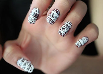 Cool Nail Design Ideas acrylic nail designs red and black cool nail design ideas Cool Winter Nail Art Designs Ideas For Girls