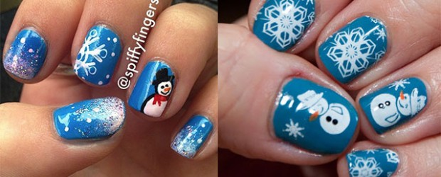 cool winter nail art designs ideas for girls 20132014