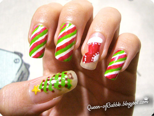 Cute-Easy-Christmas-Nail-Art-Designs-Ideas-2013- - Cute & Easy Christmas Nail Art Designs & Ideas 2013/ 2014 Fabulous