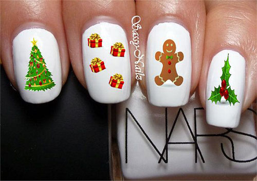 Cute-Easy-Christmas-Nail-Art-Designs-Ideas-2013- - Cute & Easy Christmas Nail Art Designs & Ideas 2013/ 2014