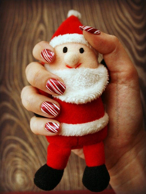 Cute Artwork Ideas Cute Christmas Nail Artwork