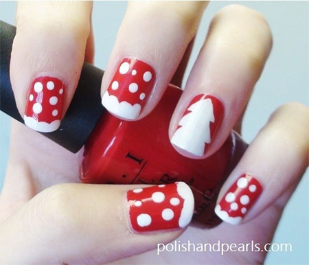 Easy Christmas Nail Art Designs Ideas 2013 2014 X Mas Nails