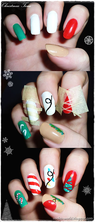 Easy-Christmas-Nail-Art-Tutorials-2013-2014-X-mas-Nails-4