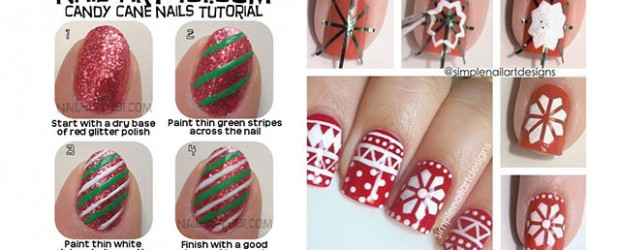 Easy Christmas Nail Art Tutorials Fabulous Nail Art Designs